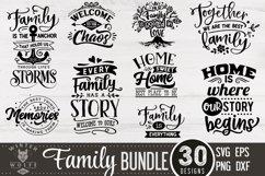 Family Bundle 30 designs SVG EPS DXF PNG Product Image 1