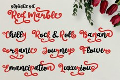 Red Marble || Beautiful Handwriting Product Image 4
