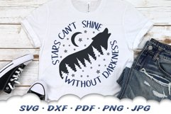 Inspirational Celestial Wolf SVG DXF Cut Files Product Image 5