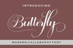 Butterfly Script Product Image 2