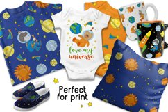 LITTLE SPACEMAN Vector Illustration Seamless Pattern Set Product Image 2