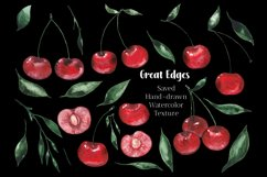 Kitchen clipart, Food clipart, Watercolor Cherry clipart png Product Image 4