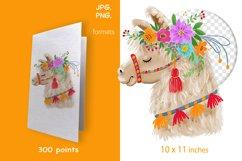 digital illustration of Llama Product Image 2