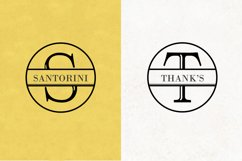 Split Letter Monogram Font Product Image 7