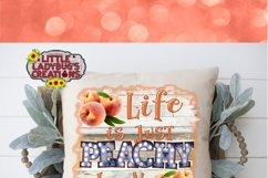 Life is Just Peachy Keen 300DPI PNG Printable Digital Design Product Image 4