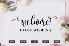 Welcome to your Wedding SVG File - Wedding SVG PNG EPS Files Product Image 1