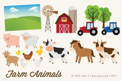 Farm Animals Clipart Vector PNG Product Image 2