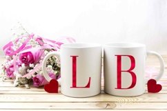 Alphabet Red, valentine, letters red, sublimation Product Image 4