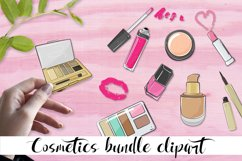 Cosmetics bundle clipart, make up and skincare eps, png. Product Image 1