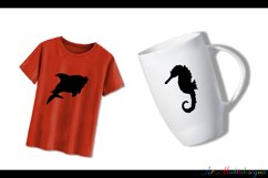 Sea animals silhouette / vector sea animal / sea animal SVG file / EPS vector / sea animals clipart Product Image 2