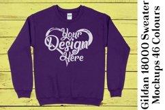 Gildan Sweatshirt Mockup 18000 Mock Up Black White Grey 943 Product Image 5