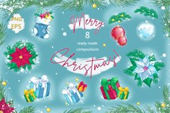 Christmas decorations. Stickers, patterns, compositions. Product Image 3