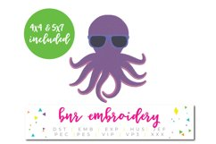 Octopus Machine Embroidery Design, Summer Embroidery Product Image 1