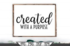 Created With A Purpose SVG Product Image 1