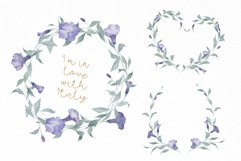 Watercolor Flowers Wreaths Gold Frames Wedding Wildflowers Product Image 6