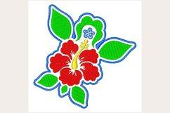 Tropical Hibiscus - Machine Embroidery Design Product Image 1