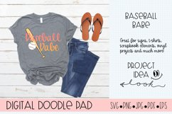 Baseball Babe SVG  Silhouette and Cricut Cut Files Product Image 1