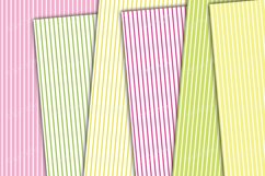 Flowers and stripes digital backgrounds Product Image 3