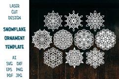Snowflake SVG, Christmas Snowflakes, Snowflakes Laser Cut Product Image 1