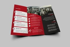 Trifold red Brochure Product Image 2
