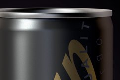 Energy Drink Black Can Mockup 250ml Product Image 5