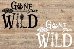 Gone Wild SVG Bear Paw Arrow Stay One Birthday baby 1533s Product Image 2