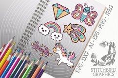 Cute Fantasy Doodles SVG, Silhouette Studio, Cricut, Eps Product Image 1