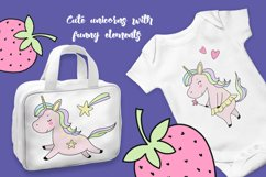 Cute unicorns with funny elements. Product Image 2