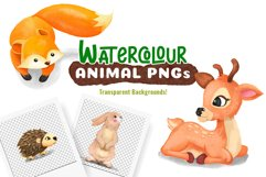 Watercolor Forest Animal Pattern Set Product Image 5