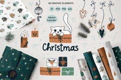 Christmas Art illustration, Nursery art Product Image 1