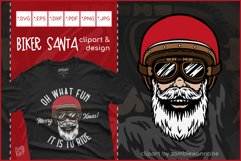 Biker Santa for Crafters, Oh What Fun It Is To Ride SVG Product Image 1