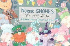 Nordic Gnomes 8 characters and clipart elements Product Image 1