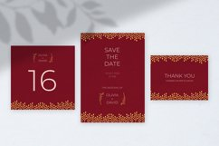 Burgundy Wedding Invitation Product Image 3
