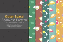 Outer Space Seamless Pattern Pack Product Image 1