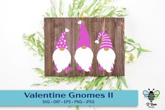 Valentine's Day Gnomes SVG with decorative hats Product Image 1