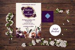 Plum and Beige Autumn Wedding Invitation Product Image 6