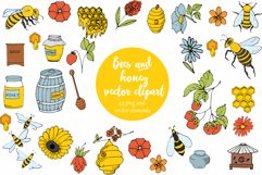 Vector Bees and Honey! Product Image 1