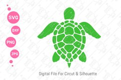 Turtle SVG | Turtle Monogram | Swimming Turtle SVG| svg dxf Product Image 1