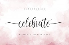 celebrate - moderen calligraphy font Product Image 1