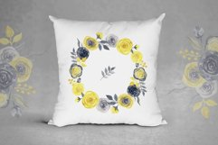 Watercolor yellow & gray roses Product Image 3