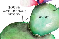 Watercolor Cactuses clipart Product Image 4
