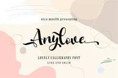 Anylove   modern scriptFont dou Product Image 1