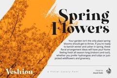 AL Veshion   Floral Spring Font Product Image 4