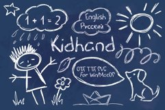 Kid Hand Chalk Textured Scribbled Script Product Image 1