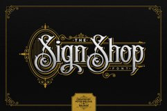 The Sign Shop Font Product Image 1