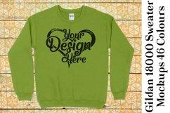 Gildan 18000 Mockup Sweater Mock Up Black White Grey 953 Product Image 6