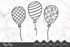 Set of Three Balloon SVG / DXF Cut File Product Image 1