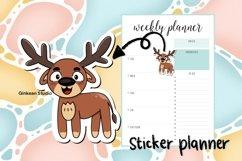 Deer clipart, deer png, digital sticker, sticker,sublimation Product Image 3