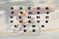 Speed Dispersion Font Product Image 2