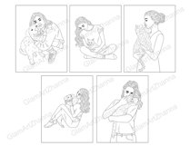 Coloring Book GIRLS for digital or print use 12 JPEG files Product Image 3